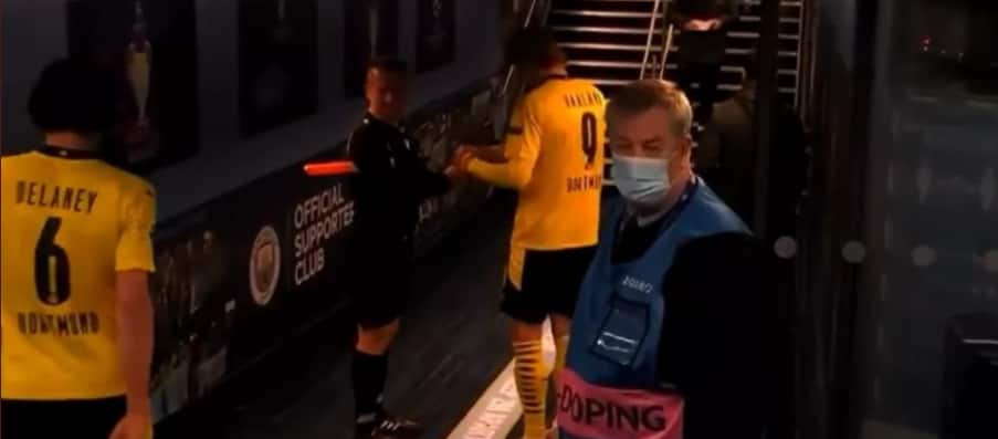 Match Official Suspended for Asking for Dortmund Star Erling Haaland's Autograph During Game