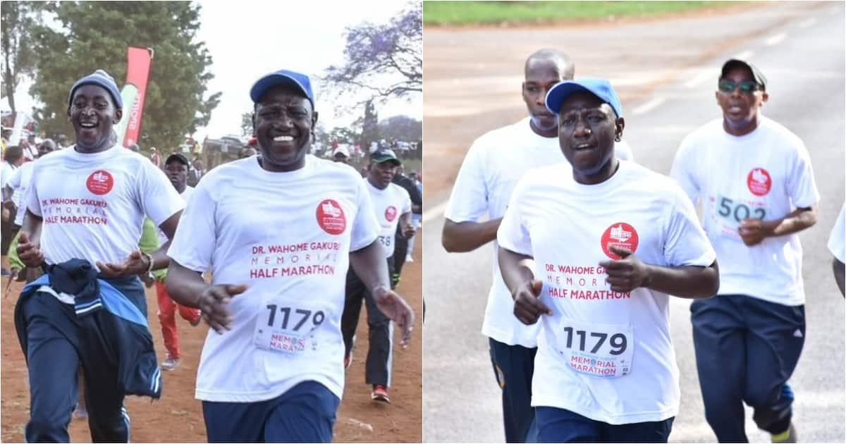 DP Ruto showcases his athletic skills during Wahome Gakuru memorial half marathon