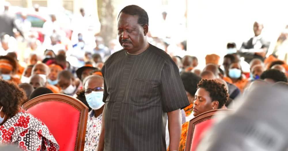 Sababu ya Raila kukosa kuhudhuria ibada ya maombi Ikulu