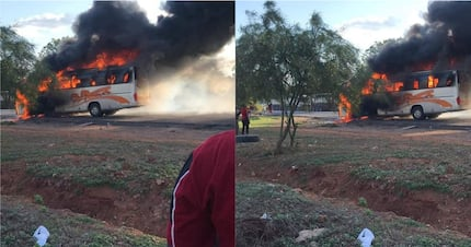 Not again. Another Tahmeed bus bursts into flames, 41 escape unhurt