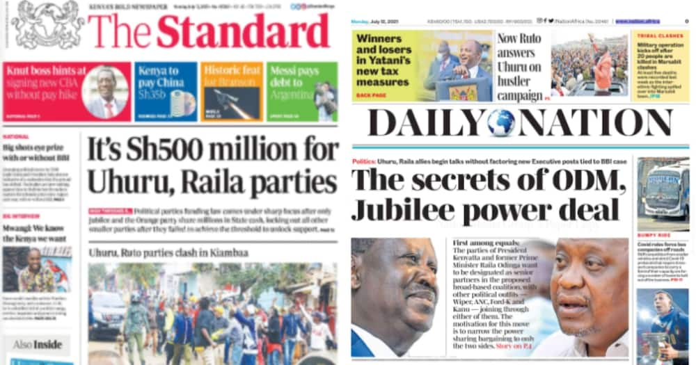 ODM and Jubilee are the only parties with the threshold to receive funds from the exchequer.