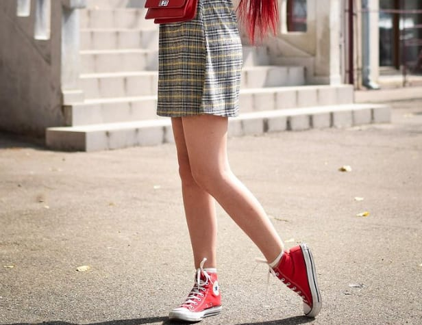 What to wear with red Converse high tops