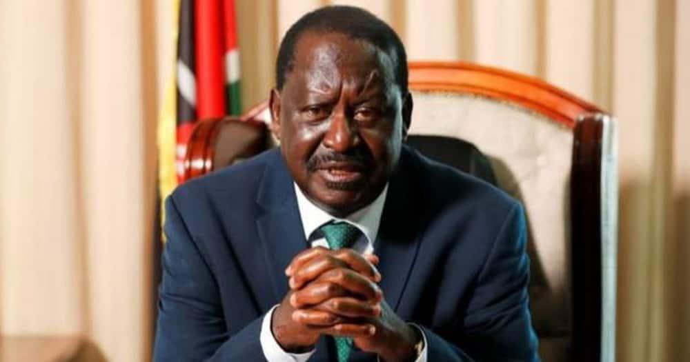 Raila Odinga shared his TBT photo leaving netizens excited.
