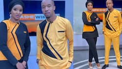 Lulu Hassan, Rashid Abdalla Light Up TV Screens with Matching Trouser Outfits