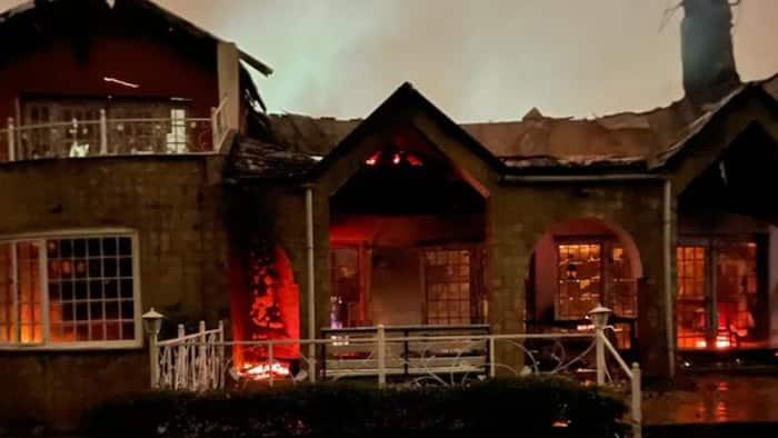 Mutahi Ngunyi's Exquisite Runda Home Goes Up in Flames at Night