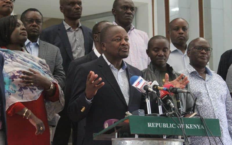 Waziri wa afya Mutahi Kagwe asema maambukizi ya virusi vya corona hayajafika Kenya