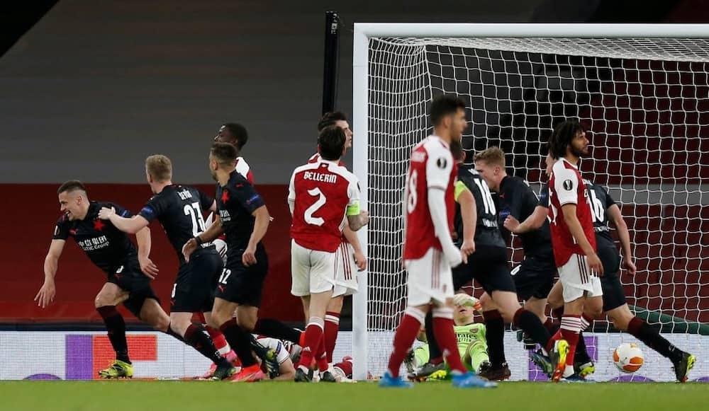 Europa League: Late Drama as Slavia Prague Stun Arsenal with Equaliser in Europa League