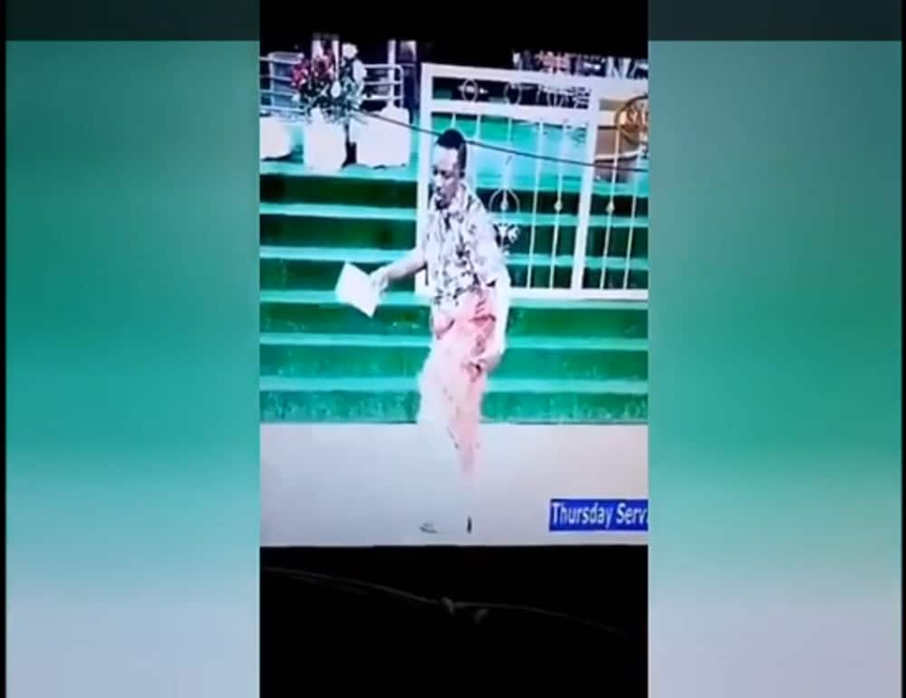 Controversial pastor James Ng'ang'a excites social media with sensual dance moves during service