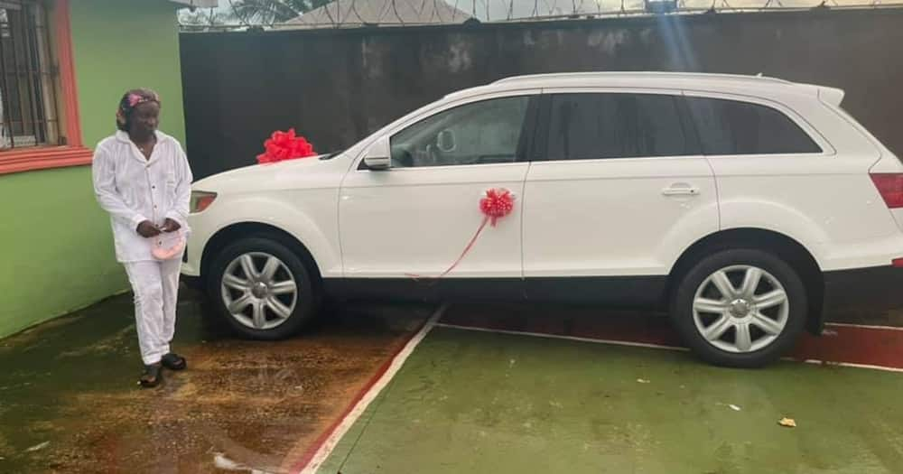 Emmanuel Potter bought his wife an Audi Q7 for her birthday.