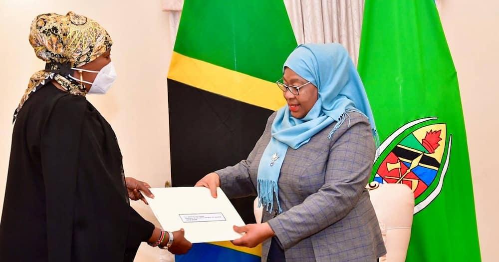 Samia Suluhu Hosts CS Amina Mohamed for Diplomatic Talks between Kenya, Tanzania