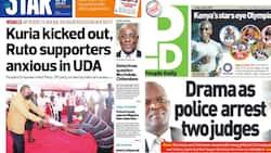 Magazeti Ijumaa: Moses Kuria Afukuzwa PEP, UDA Yakumbwa na Mzozo