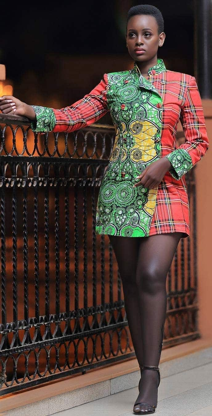 Latest kitenge short dress designs 2019