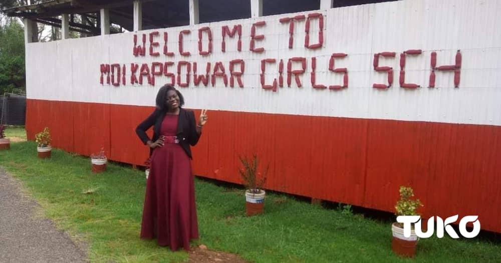 Moi Girls High School Kapsowar: Photo: Mercy Chebet/Tuko.co.ke.