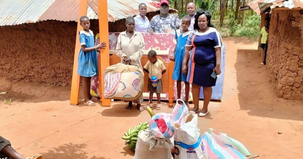 Homa Bay: Well-wishers Come to Rescue of Schoolgirl Captured Sleeping on Floor with Grandma