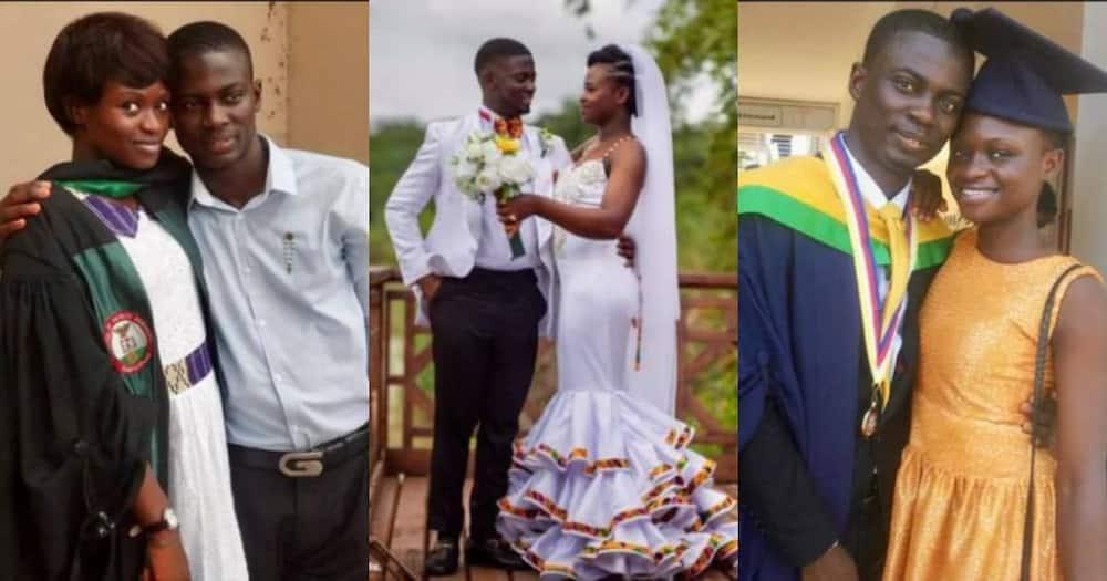 Odo Nsor married his schoolmate.