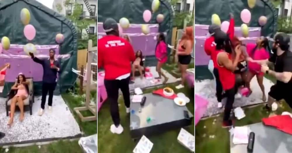 Man throws baby shower for bae, his other baby mama shows up