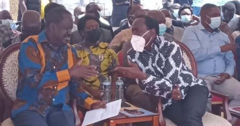 Raila, Kalonzo Wahudhuria Mazishi ya Kalembe Ndile Machakos
