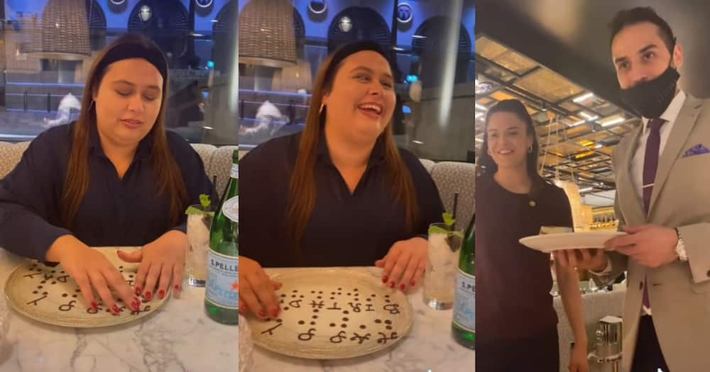 Restaurant Amazingly Writes Happy Birthday in Braille Using Melted Chocolate for Overjoyed Blind Diner