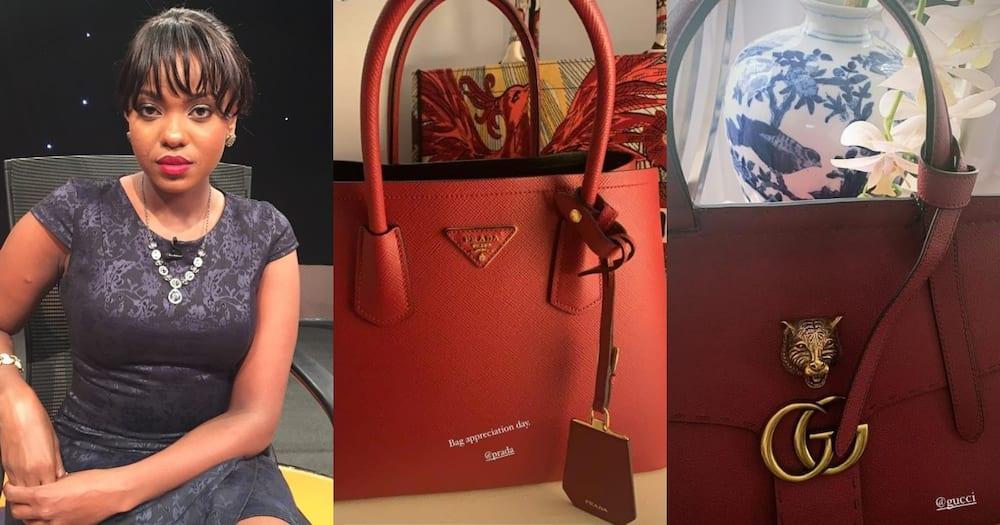 Anne Kiguta shared photos of Prada, Gucci designer bags. Photo: Anne Kiguta.