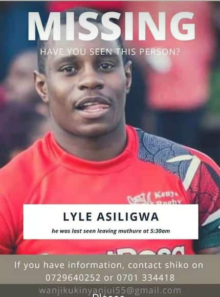 Kenya National Rugby player goes missing, family launch desperate search
