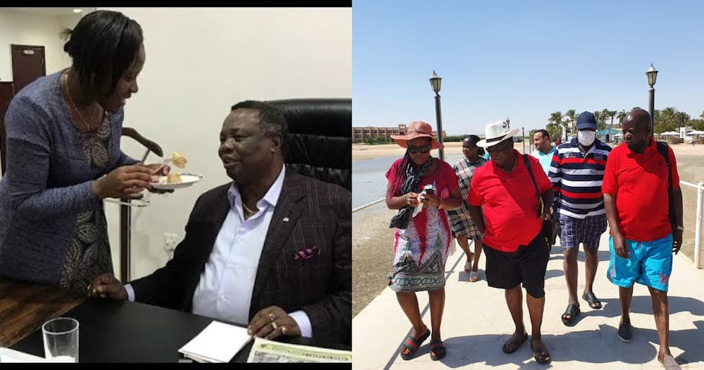 COTU boss Francis Atwoli pulls thrilling dance moves in a boutique.