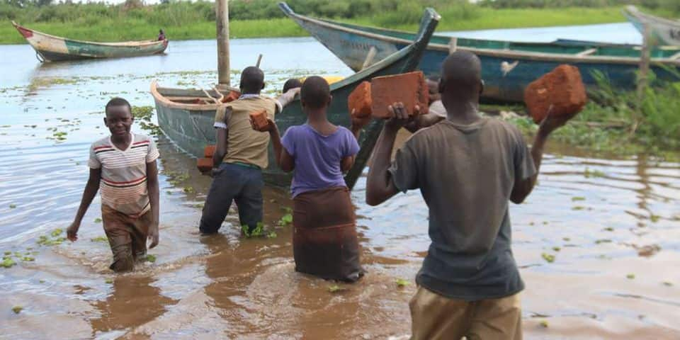 Five schools have been rendered inaccessible in Budalang'i due to floods. Photo: Nation