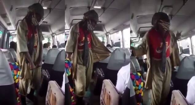 Feel the music: Matatu conductor dances for passengers while collecting fare
