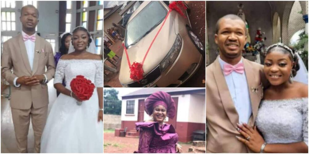 Couple gifted car gift on their wedding day