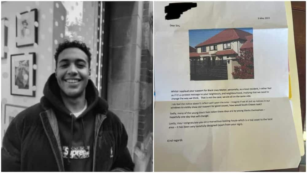 Neighbour takes photo of man's house, prints it and writes him powerful letter