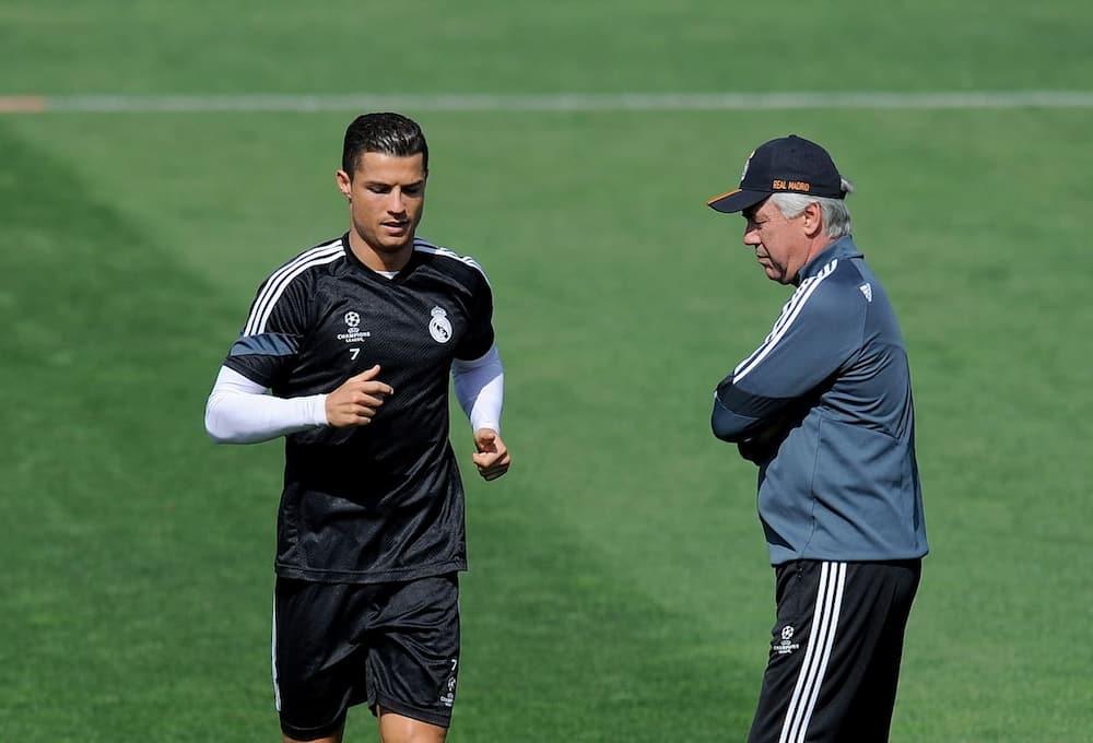 Cristiano Ronaldo and Ancelotti