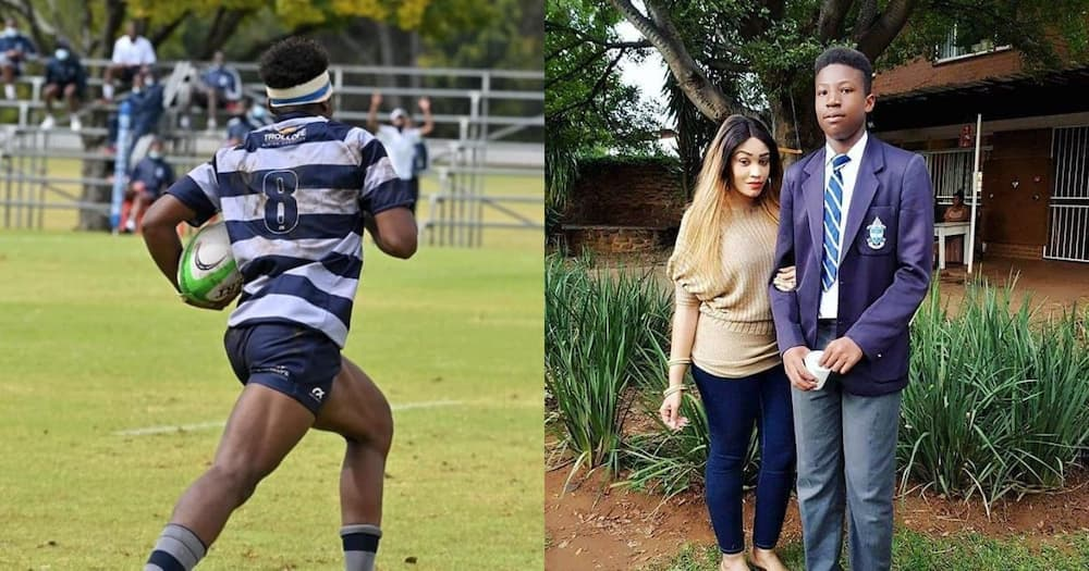 """Fans Memserized by Zari's Firstborn Son's Rugby Skills: """"I Wish Their Dad Was Alive"""""""