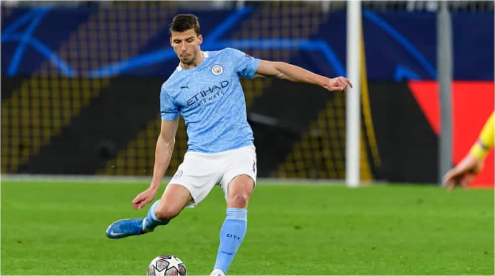 Ruben Dias while in action for Man City. Photo: Getty Images.