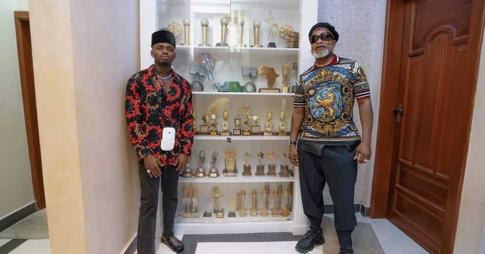 Koffi Olomide, Diamond Plantnumz extreme outfits for song collabo gets tongues wagging