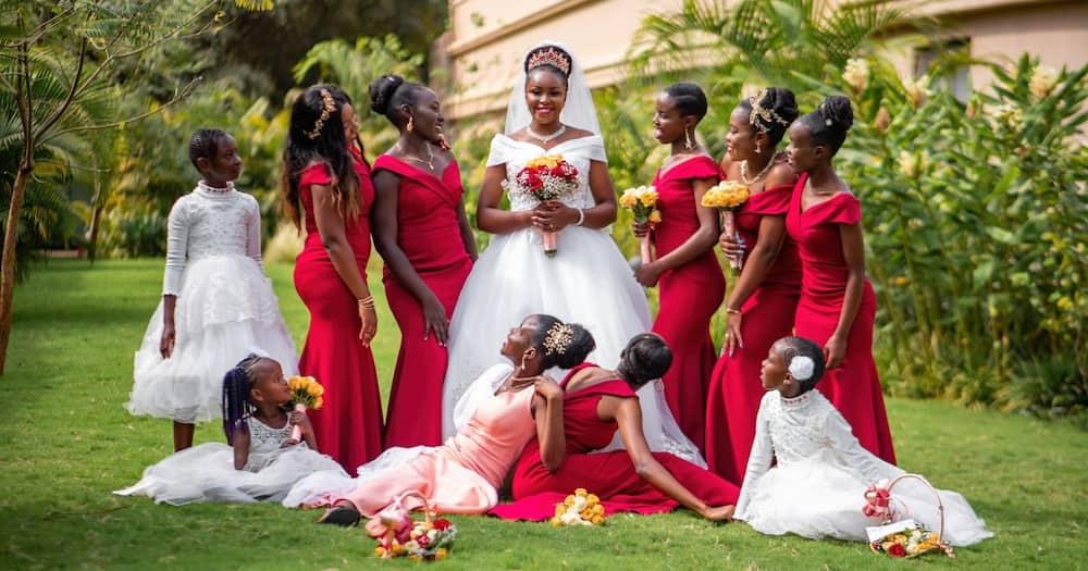 Johnson Mwangi shared his stunning wedding photos on Twitter.