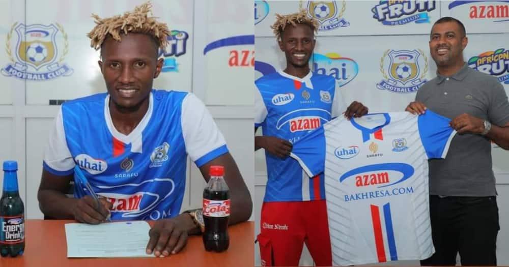 Kenneth Muguna for Azam FC.