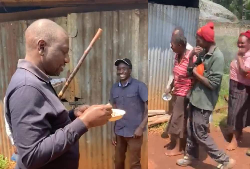Kesho ipunguzwe chumvi: DP Ruto achangamkia mlo wa githeri na wafanyakazi wake