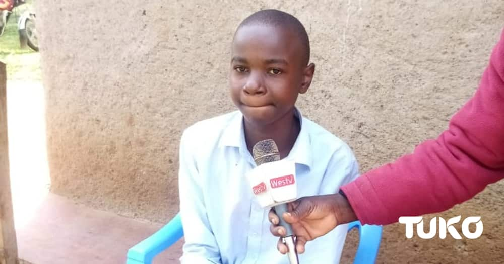 Bungoma's top candidate in 2020 KCPE Spencer Wangila (pictured) received girls' school admission letter.