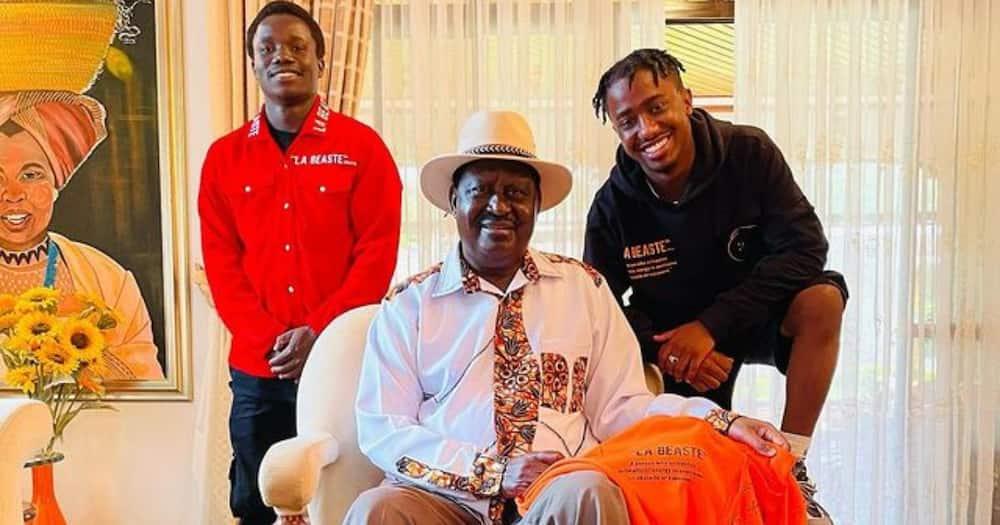 Raila Odinga and his guests at his Karen home.