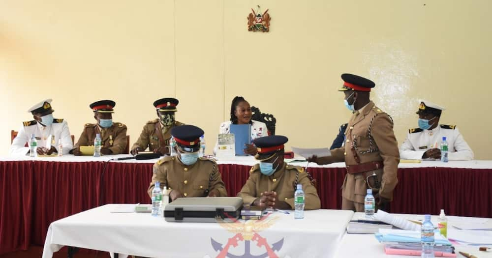 Two KDF officers denied bribery allegations.