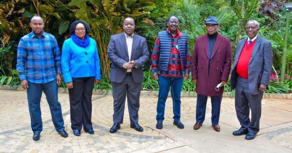 Raila Odinga Meets Matiang'i, Kisii Leaders in His Unifying Kenya Campaign