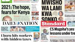 Kenyan newspapers review for December 31: William Ruto off to Msambweni to celebrate victory of MP Feisal Bader