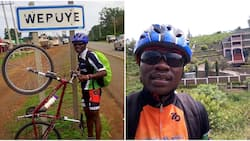 Meet JKUAT student cycling hundred of kilometers across counties