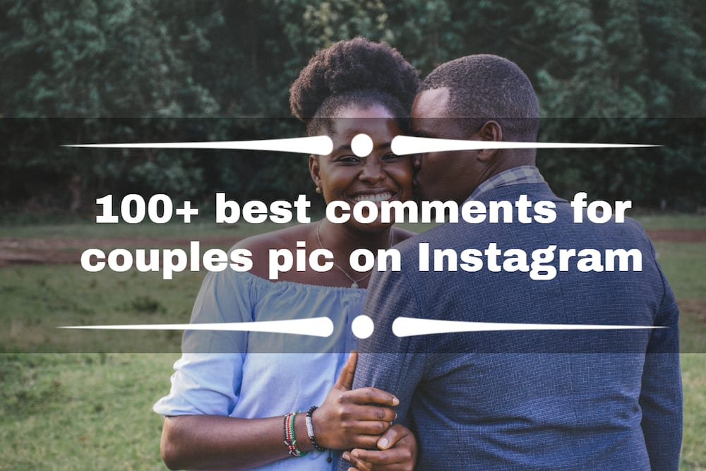 comments for couples pic on Instagram
