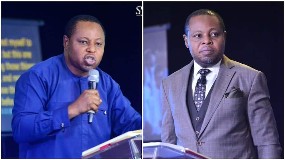 A collage of Pastor Charles Osasuwa. Photos sources: Twitter/Osasuwa