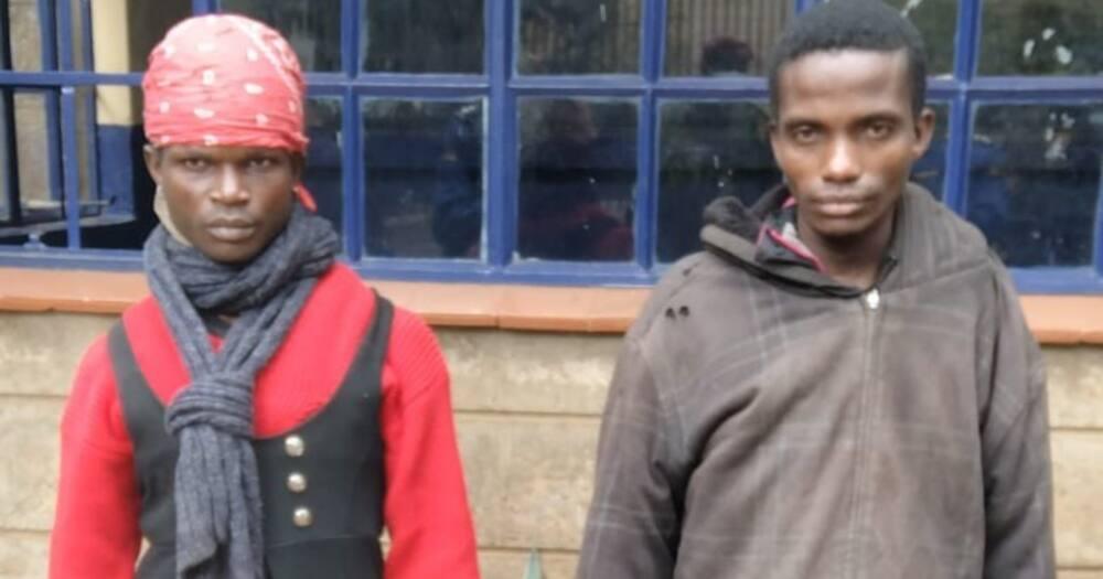 Peter Omweno Momanyi (l) and John Muchiri Kimani (r). Photo: DCI.