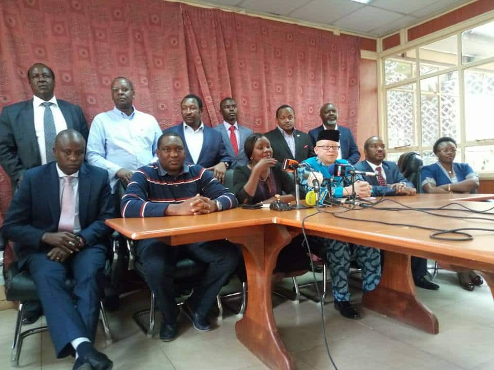 A section of Mt Kenya leaders committ to support Uhuru, dismiss Moses Kuria's sentiments
