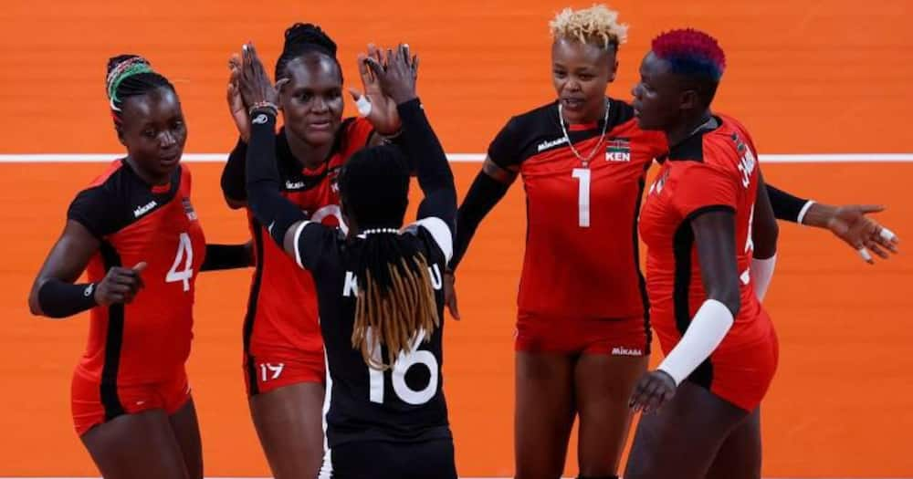 Malkia Strikers while in action against South Korea during the Tokyo Olympics. Photo: Twitter/@Olympicske.