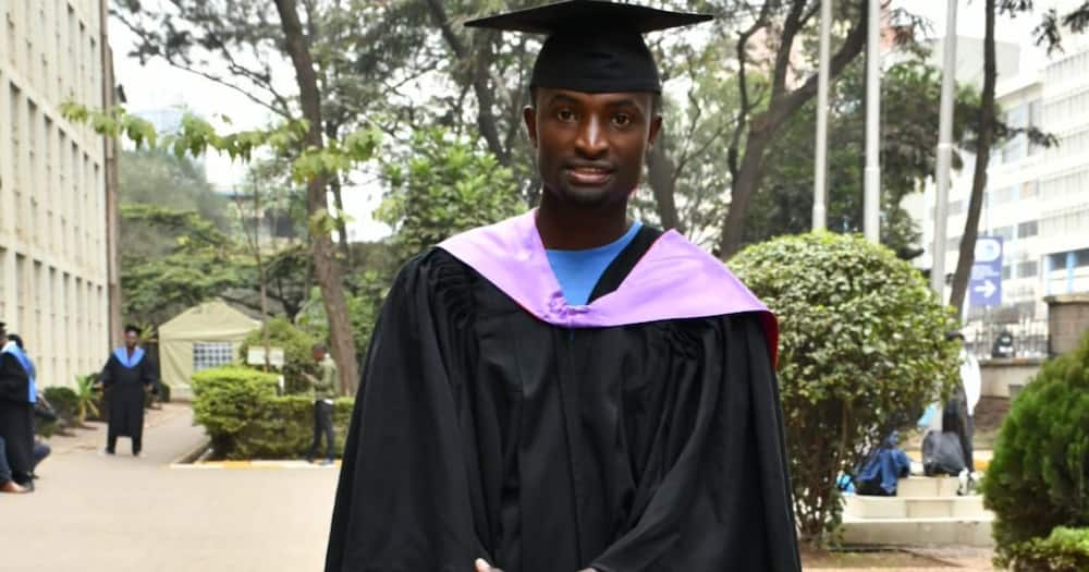 Sammy Maina narrated he did manual jobs to pay his school fees. Photo: Sammy Maina.