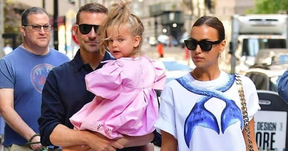 Irina Shayk was on a family outing with her daughter and ex-lover Bradley Cooper. Photo: Backgrid.