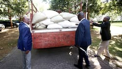Governor Rasanga delivers truck full of maize to Gideon Moi, condoles with late Mzee's family